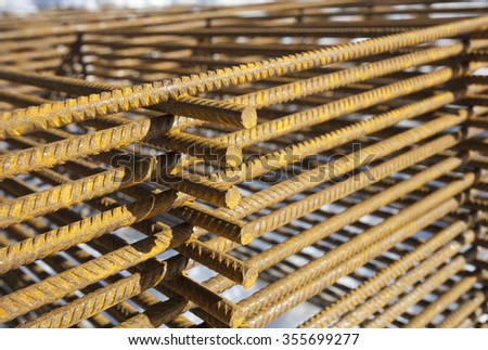 rusty construction material - stock photo