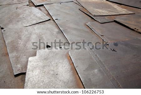 Rusty Corrugated Iron - stock photo