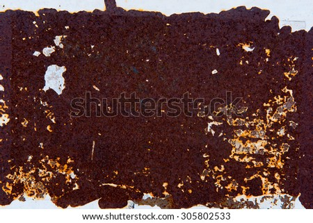 rusty corrugated iron metal texture - stock photo
