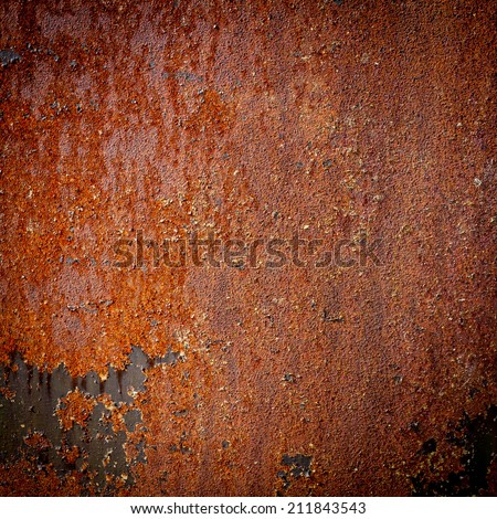 Rusty dark grunge texture metal background - stock photo
