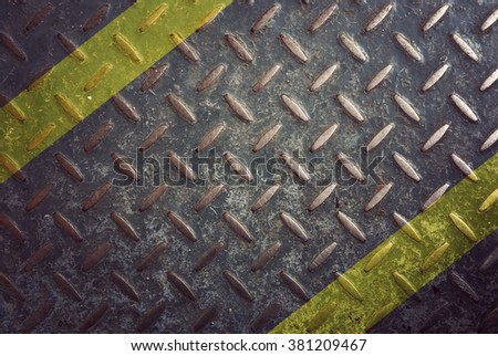 Rusty diamond steel plate background,Vintage Filter - stock photo