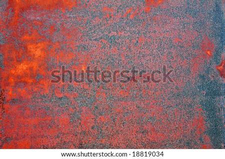 rusty grunge iron background - stock photo