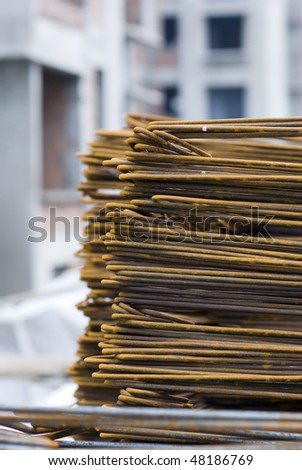 Rusty High Tensile Steel Bar - stock photo