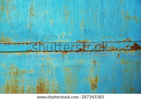 Rusty iron surface - stock photo