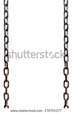 Rusty metal chains - stock photo