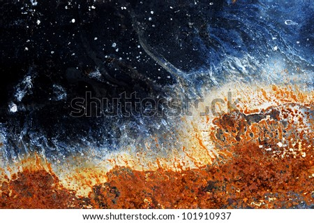 Rusty metal grunge background - stock photo