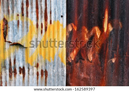 Rusty metal grunge background - stock photo