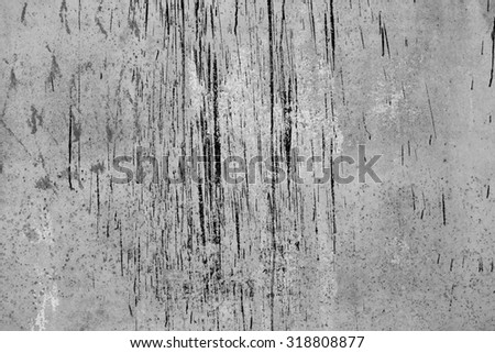 Rusty metal painted plate background, black and white - stock photo
