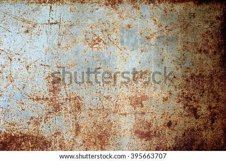 rusty metal panel texture background - stock photo