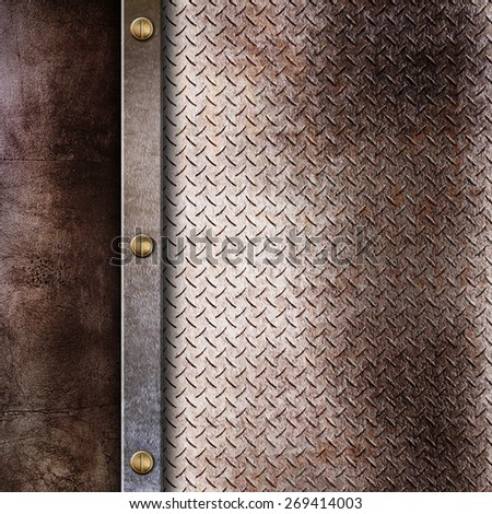 rusty metal plate background - stock photo
