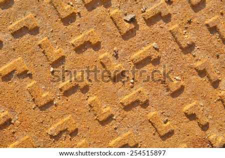 Rusty metal surface texture with dirt  - stock photo