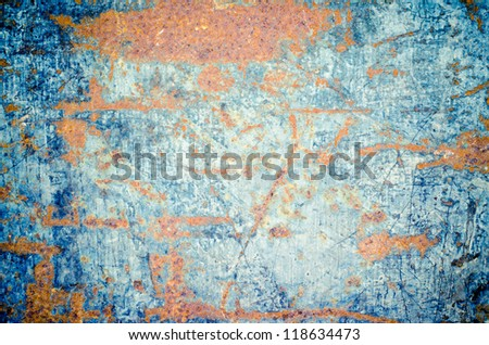 Rusty metal texture as background - stock photo