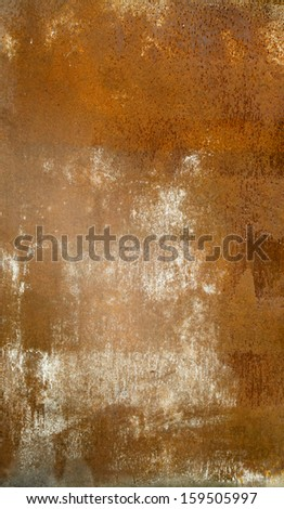 rusty metal texture in spots and dimples - stock photo