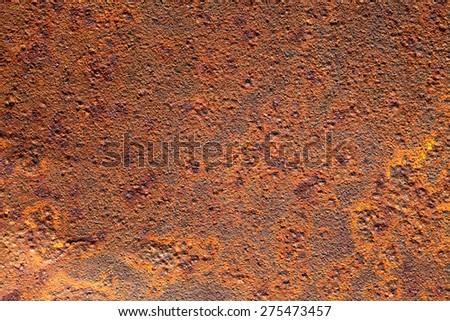 Rusty metal textured background closeup - stock photo