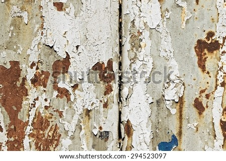 Rusty metal wall texture background. Rusty pattern. - stock photo