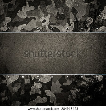 rusty metal with army pattern - stock photo