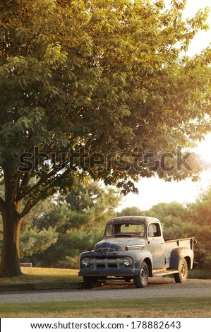 Rusty Old Ford Pickup - stock photo