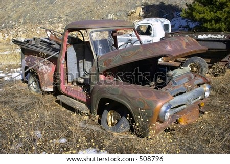 Rusty old Truck - stock photo