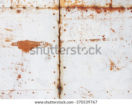 rusty panel texture - stock photo