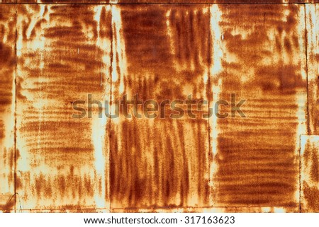 Rusty scratched painted metal surface - stock photo