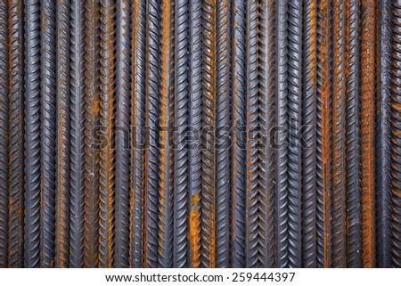 rusty steel building armature - stock photo