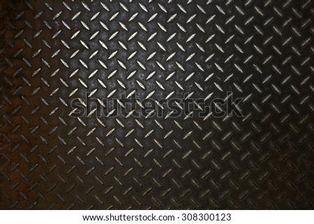 Rusty steel diamond plate texture - stock photo