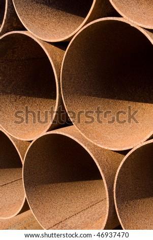 Rusty Steel Pipe - stock photo