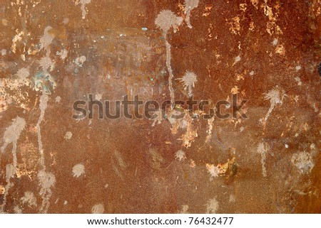 Rusty textured metal background - stock photo