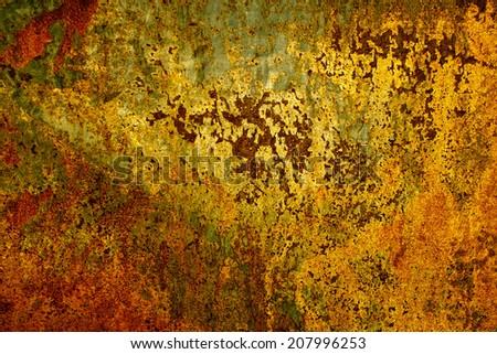 Rusty wall - stock photo