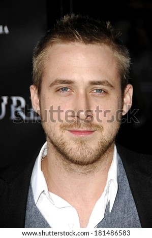 Ryan Gosling at FRACTURE Premiere, Mann's Village Theatre in Westwood, Los Angeles, CA, April 11, 2007 - stock photo