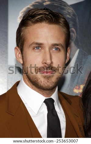 "Ryan Gosling at the Los Angeles premiere of ""Gangster Squad"" held at the Grauman's Chinese Theatre in Los Angeles, California, United States on January 7, 2013. - stock photo"