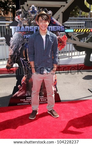 """Ryan Potter at the World Premiere Of Universal Studios Hollywood's """"Transformers: The Ride-3D,"""" Universal Studios Hollywood, Universal City, CA 05-24-12 - stock photo"""