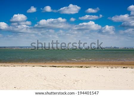 Ryde Beach on the Isle Of Wight England UK Europe - stock photo