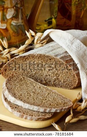 Rye bread. - stock photo