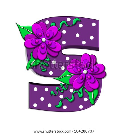 S Alphabet In Flowers s in the alphabet set