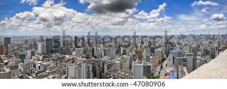 São Paulo panorama, Brasil - stock photo