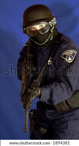 S.W.A.T Officer - stock photo