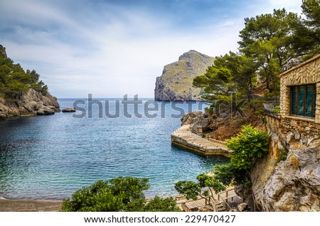 Sa Calobra harbour - stock photo