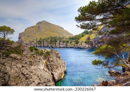 Sa Calobra on Majorca - stock photo