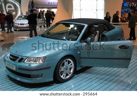 Saab 93 Cabrio at Geneve Auto Salon 2004 - stock photo