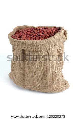 sack of bean - stock photo