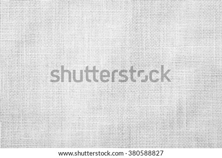 Sackcloth woven texture pattern background light white grey gray earth color tone: Eco friendly raw organic flax sack cloth fabric textile backdrop: Bag rope thread detailed textured burlap canvas - stock photo