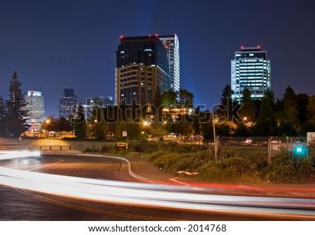 Sacramento at Night - stock photo