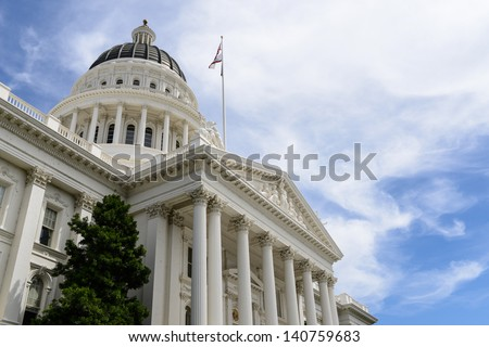 Sacramento Capitol Building - stock photo