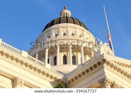 Sacramento, United States - California State Capitol building. - stock photo
