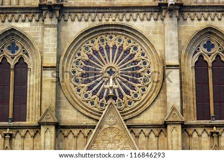 Sacred Heart Cathedral, Guangzhou, China - stock photo