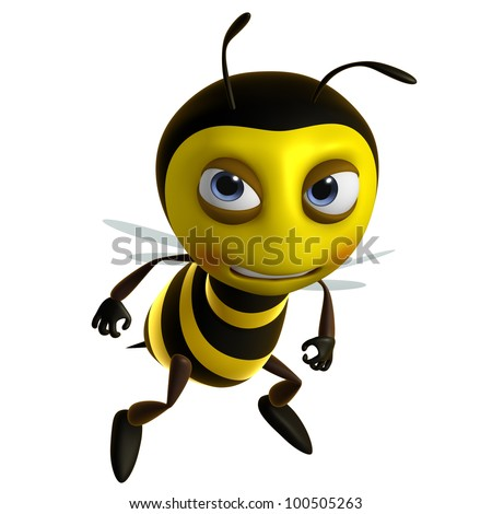 sad bee - stock photo