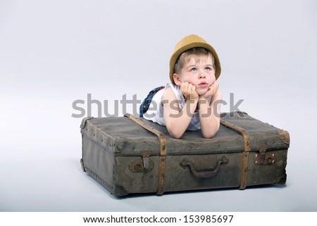 Sad boy - stock photo