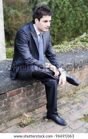 Sad Business man - stock photo