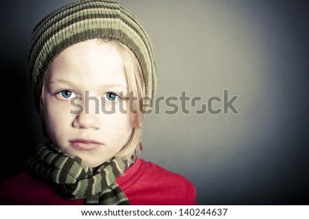 Sad child - stock photo